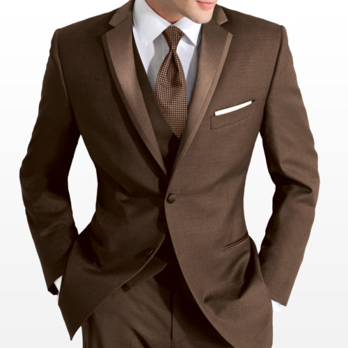chocolate perry ellis style tuxedo jacket