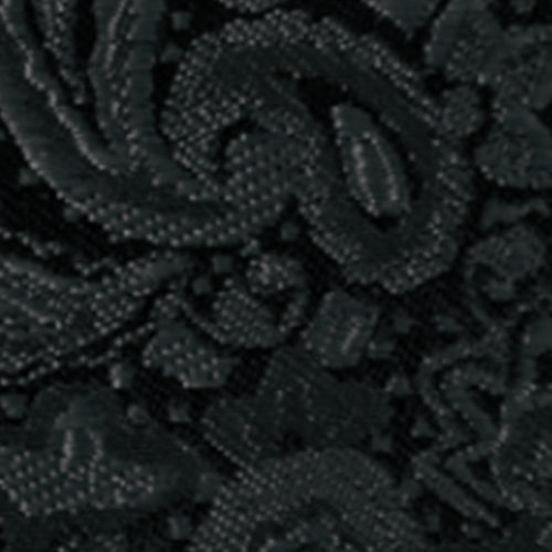 black modern solid paisley accessory option
