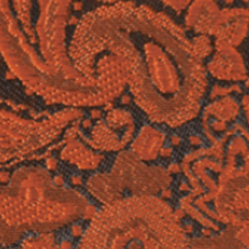 burnt orange modern solid paisley accessory option