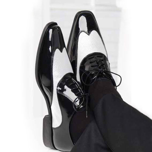 black and white manhattan shoes