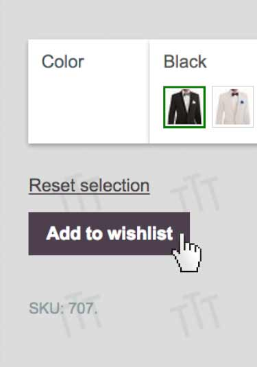 tip top tux wish list feature screenshot