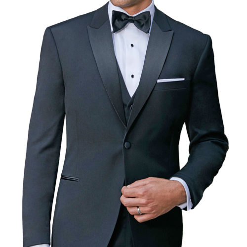Charcoal Ike Behar Tuxedo Jacket