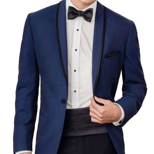 sapphire tip top tux trimmed shawl tuxedo jacket