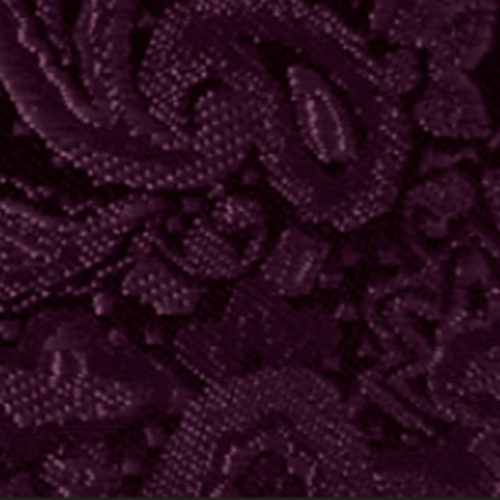 aubergine paisley modern solid accessory option