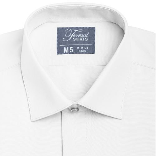 white microfiber colors buttoned shirt