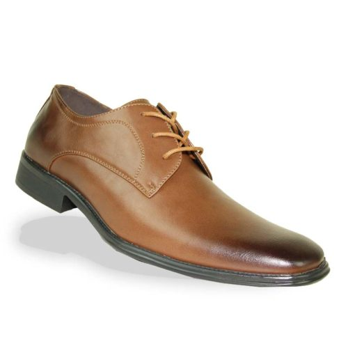matte burnt cognac shoe