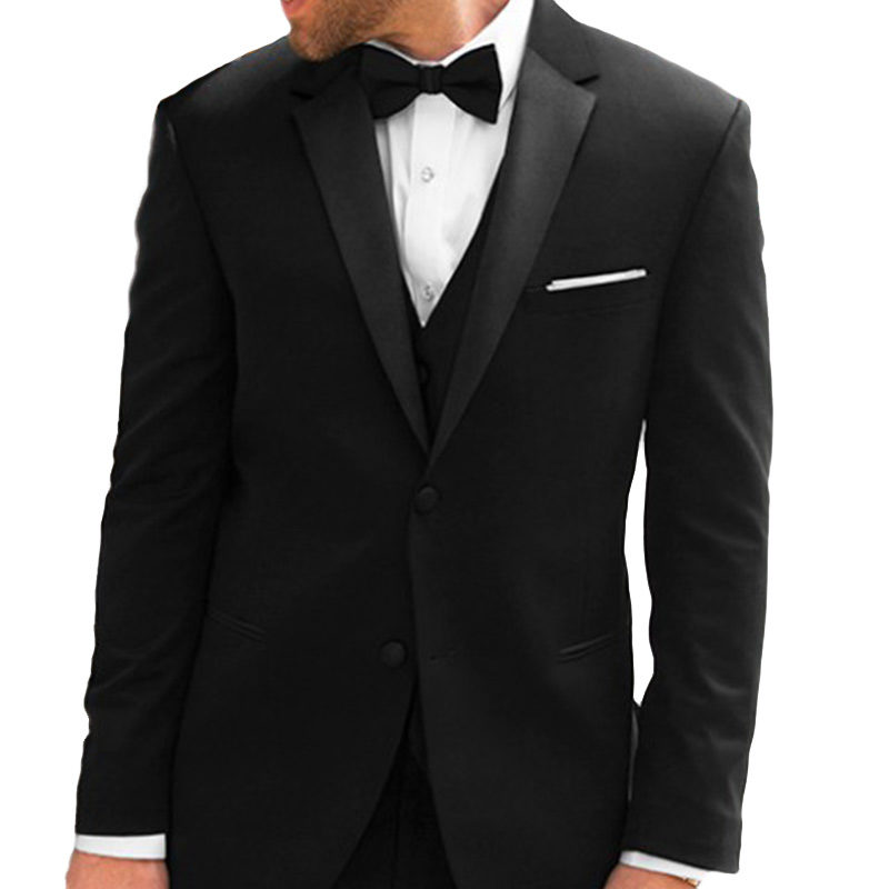 black full satin michael kors tuxedo jacket
