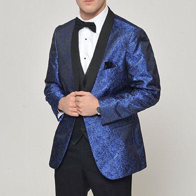 paisley blue jacket tip top tux