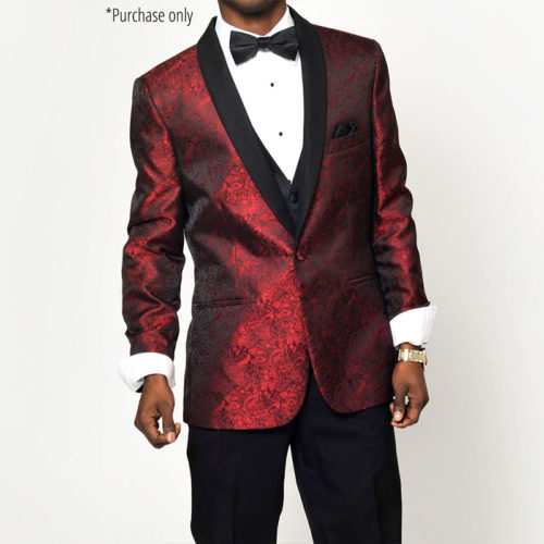 Red Paisley Tuxedo Jacket Tip top tux