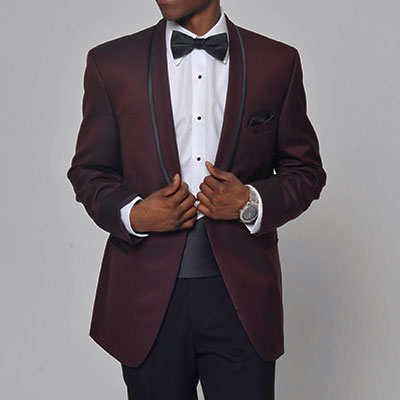 tip top tux johnny wilde burgundy prom tuxedo