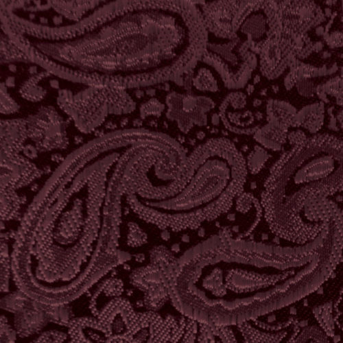 wine paisley modern solid accessory option